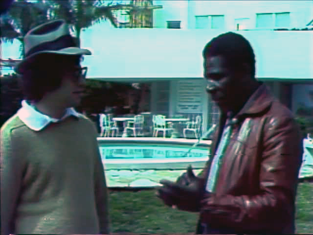 Tom Weinberg with Minnie Minoso, 1976